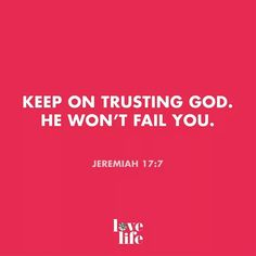 Men will fail! But God won't!
