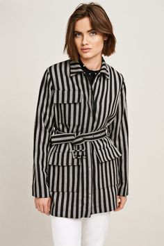 Luba jacket 9925, BLACK WHITE ST