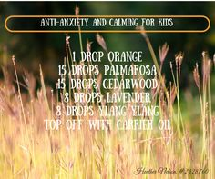 Roller blend for anti-anxiety for kids