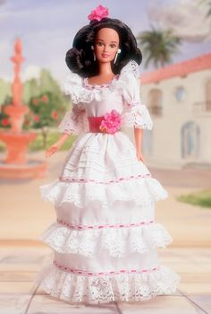 Collectible Barbies-From The Dolls Of The World Collection-Puerto Rican-1997