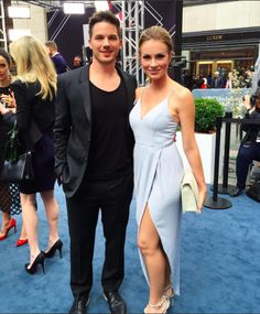 Matt Lanter and Angela Lanter at NBC Upfronts, May 2016 for Timeless.