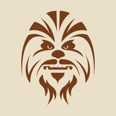Star Wars Chewbacca stencil - Star Wars Tshirt - Trending and Latest Star Wars Shirts - Chewbacca, Plotter Silhouette Portrait, Stencils, Inkscape Tutorials, Star Wars Gifts, Scroll Saw Patterns, Star Wars Party, Silhouette Cameo Projects, Silhouette Studio