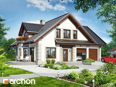 projekt Dom w dąbrówkach 2 Home Fashion, House Plans, Exterior, Cabin, Mansions, House Styles, Building, Home Decor, Decoration