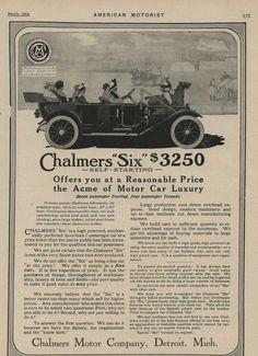 1912 Chalmers 6 Detroit MI Automobile Magazine Ad, Studebaker Flanders 20 ma0923 | eBay Automobile