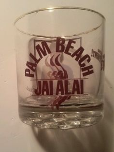 Vintage 1980 West Palm Beach Jai Alai Player Drinking Glass   eBay