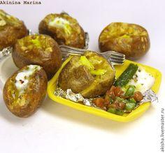 Крошка-картошка запеченный картофель кукольная миниатюра - Чудеса в ладошке (Акинина Марина)