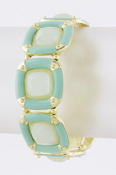 Geo Mint Bracelet the perfect accent piece for summer! www.TheShoppingBagStore.com  #bracelets #mint #summer