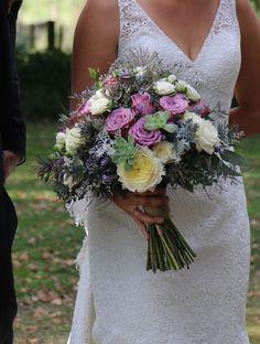 Lace Wedding, Wedding Dresses, Brides And Bridesmaids, Real Weddings, Bouquet, Beautiful, Fashion, Bride Dresses, Moda