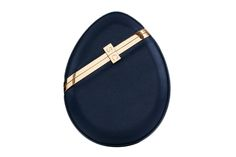 Luna Clutch in Navy Saffiano Leather