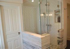 Vermont marble shower in attic master bath master suite - Atticmag