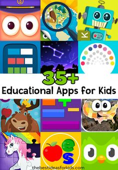 35+ of the BEST Educational Apps for Kids. From Math, Science, Reading, Language, Social Studies and more! Free App Options Included.