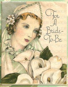 Google Search vintage bride to be card