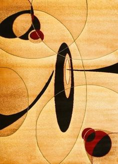 2038 Beige Abstract Contemporary Area Rugs