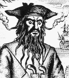 When it comes to Blackbeard, the most famous pirate ever to sail the seven seas, it's hard to separate myth from fact. Here are 10 interesting facts. William Kidd, Pirate History, Famous Pirates, Peter And The Starcatcher, Golden Age Of Piracy, Sneak Attack, Art Of Manliness, Pirate Life, Pirate Art