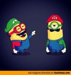 Mario y Luigi Bros como Minions.