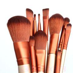 Pro Makeup 12pcs Brushes Set Powder Foundation Eyeshadow Eyeliner Lip Brush Tool #Unbranded