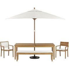Regatta Dining Bench with Sunbrella® White Sand Cushion in New Outdoor | Crate and Barrel