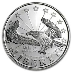 .999 fine Silver Round one ounce Liberty eagle liberty , silver bullion, 99.9% pure silver ,silver coin, silver rounds