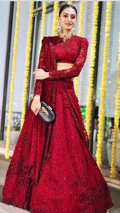 The Neeti Mohan Wedding is all about Squad Goals for Indian Bridesmaids - Witty Vows Indian Bridal Outfits, Indian Bridal Fashion, Indian Designer Outfits, Bridal Dresses, Lace Dresses, Dresses With Sleeves, Formal Dresses, Dress Indian Style, Indian Dresses
