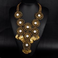 New Boho brand chain necklaces & pendants collar Vintage chunky choker big bib maxi statement necklace for women jewelry N00533