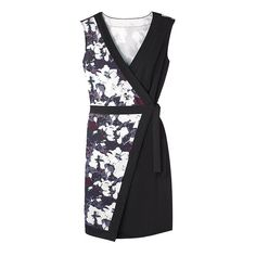 Always-in-season flattering wrap dress!Wearthis floral piece alone or layer it with tights and a cardigan.Women's, also available in Misses.  FEATURES •Smoothing mid-weight fabric • Self-tie at the waist •Black/floral print only • V-neck due to wrap style • Sleeveless  ~ Avon Lady Beth Bailey ~ Avon eStore LipstickShoesAndMore.com