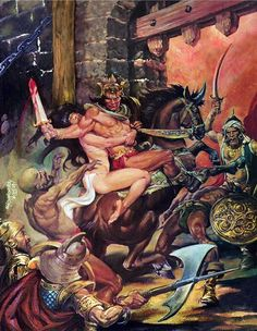 Conan by Nestor Redondo Science Fiction Art, Pulp Fiction, Conan Der Barbar, Illustrations, Illustration Art, Conan The Barbarian, Sword And Sorcery, Arte Horror, Art Graphique