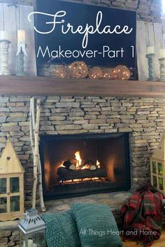 Fireplace Makeover Part 1Our 90's fireplace needed a makeover...it was so easy! #ad