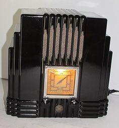 STUNNING Ultra Rare 1930s Vintage Art Deco AWA EMPIRE STATE Bakelite Valve Radio   eBay
