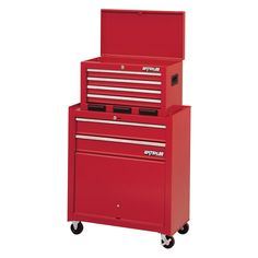 Have to have it. Waterloo Shop Series 26 in. 6-Drawer Tool Center with Parts Bin - Red $189.99