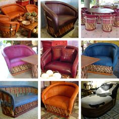 equipales de piel hechos en México. quinto real Mexican Furniture, Western Furniture, Cafe Design, Interior Design, Mexican Kitchens, Adobe House, Mexican Style, Spanish Style, Love Seat