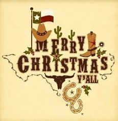 Texas Christmas invitation or decoration