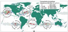 continent de déchet | Carte du 7ème Continent et de la concentration de plastique dans nos ...