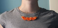 DIY origami-style necklace | How About Orange @Allison Harris - next crafternoon? We're WAY overdue!