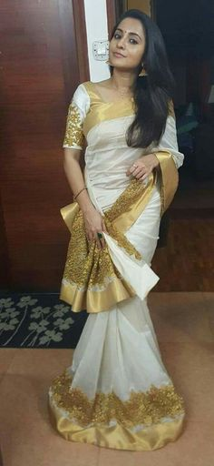 I feel like this is a cute twist to a traditional Kerala Saree