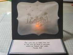 O Holy NIght Vellum Easel Card by MelisLeach - Cards and Paper Crafts at Splitcoaststampers