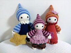 Cuddly baby crochet dolls pattern by Mari-Liis Lille & work by 백년초