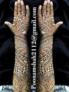 """Photo from Poonam Mehendi Artist """"Portfolio"""" album Arabic Bridal Mehndi Designs, Engagement Mehndi Designs, Floral Henna Designs, Full Hand Mehndi Designs, Legs Mehndi Design, Indian Mehndi Designs, Henna Art Designs, Mehndi Designs 2018, Mehndi Design Pictures"""