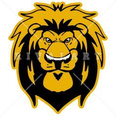 Mascot Clipart Image of A Lions Mascot Head Graphic