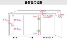 DIY超初心者:3段ボックス(カラーボックス)に扉を付ける方法(まとめ) | つめこみBOX
