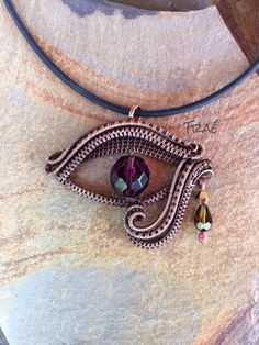 Eye Of Horus Copper Wire Weave by Traebetruedesign on Etsy