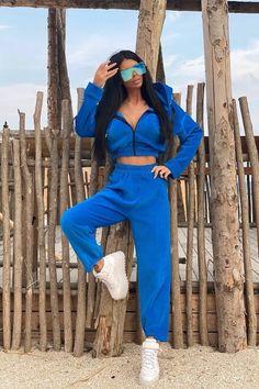 Trening dama plus ELECTRIC BLUE FOREVER IN LOVE din 2 piese Forever Love, Electric Blue, Shopping, Dresses, Fashion, Vestidos, Moda, Fashion Styles, Endless Love