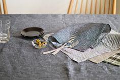 fog linen work/フォグリネンワーク/テーブルクロス/デニム(L) - 北欧雑貨と北欧食器の通販サイト| 北欧、暮らしの道具店