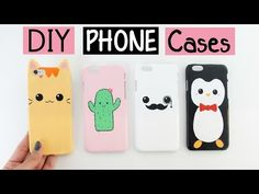 DIY: Fundas Caseras para celulares / DIY Phone Case Designs! - YouTube