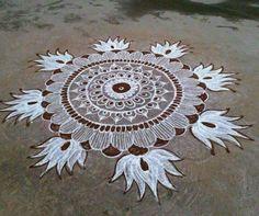 Simple Rangoli Designs Images, Rangoli Designs Latest, Rangoli Designs Flower, Rangoli Border Designs, Rangoli Ideas, Rangoli Designs Diwali, Rangoli Designs With Dots, Beautiful Rangoli Designs, Lotus Rangoli