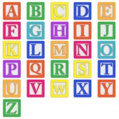 Baby blocks, Alphabet fonts and Art clipart