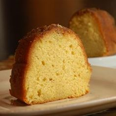 Rum Cake - delicious and easy using yellow cake mix and vanilla pudding mix with butter, rum, pecans.