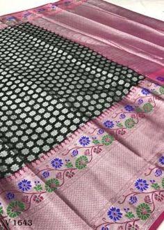 Sarees Online | Buy Sarees Online |@ ibuyfromindia.com Kora Silk Sarees, Kanjivaram Sarees, Black Saree, Organza Saree, Work Sarees, Festival Wedding, Fancy Sarees, Beautiful Saree, Saree Wedding