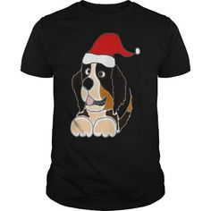This cute design will be a great gift for you or your family Funny Cute Bernese Mountain Dog Christmas Art Tee Shirts T-Shirts