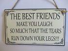 Friend Friendship Plaque Sign funny wooden gift BEST FRIENDS
