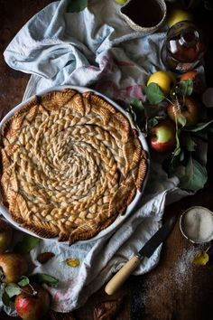 Brown Butter + Maple Caramel Apple Pie - The Kitchen McCabe